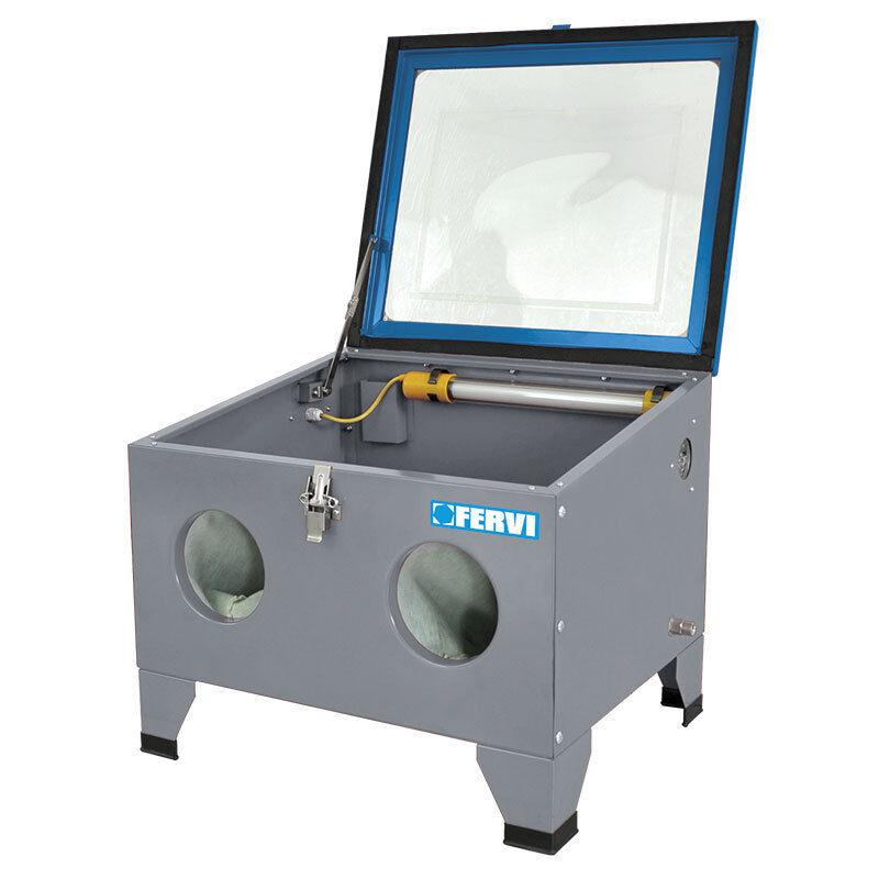 Máquina de chorro chorro de de arena de banco FERVI 0580S 6712a5