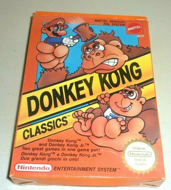 Donkey Kong Pal Aus Good Boxed Game Nes Classic Nintendo Arcade Dk For Sale Online Ebay