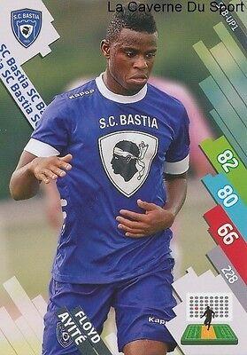 MAKELELE # SC.BASTIA CARD ADRENALYN FOOT 2015 PANINI SCB-01 LOGO ECUSSON