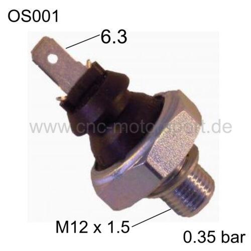 Öldruckschalter 0,35 bar M12x1,5 für Schlepper Traktor Schalter Öldruck