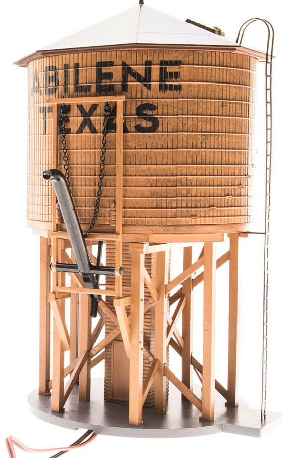 Broadway Limited HO Scale Operating Water Tower Tower Tower with Sound - City of Abilene 952052