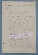L.A.S 1873 Docteur L. MONIER - Avignon Société de Médecine département Vaucluse