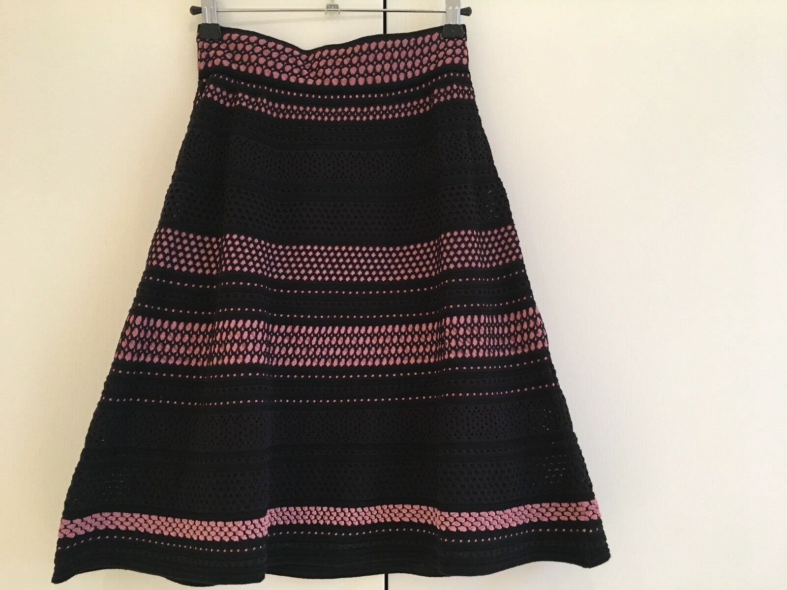 M MISSONI nero nero nero rosa oro Metallizzato Filo Gonna-IT 38 Bnwt-Rrp 350 570efc