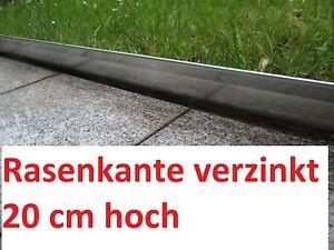 Rasenkante 1 m verzinkt Mähkante Metall Beeteinfassung Beetumrandung Rasenkanten