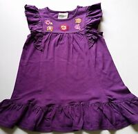 Girls Crazy 8 Cotton Knit Dress Purple Ruffle Summer Sun 6-12 Or 2t Solid