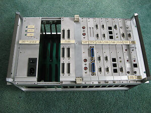 Equipment-Rack-with-Communication-Cards-PSU-RS-232-Optical-RS-485-Telephone-USED