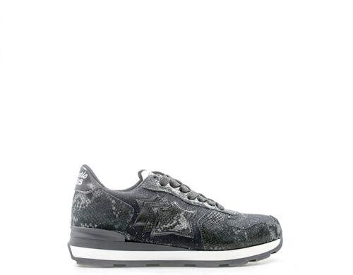 Atlantic Trendy Donna tessuto Stars Nero Sneakers Naturale Pelle Veganzb Scarpe OIxAd1qO