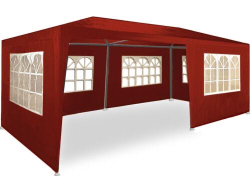 Barnum tente de jardin réception tente fête Tonnelle pavillon 3x6m 6 couleurs