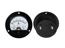 0- 10A DC Ammeter Amp Current Panel Meter Round Analogue Analog NEW