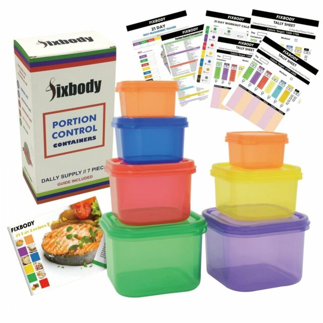 21 Day Fix Portion Control Containers Kit Weight Loss Food Plan Diet Beach Body
