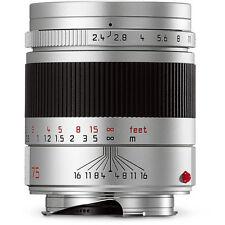 New Leica Summarit-M Mount 75mm F/2.4 Lens Silver #11683