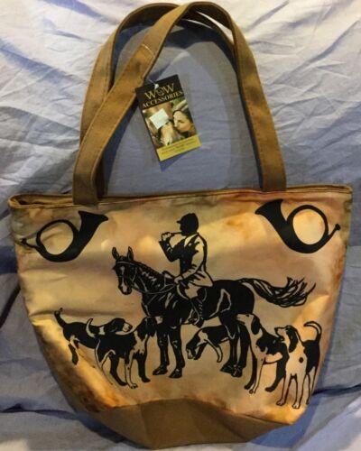 Fox Hunt Hunting Silk Screened Tote Bag WOW Accessories
