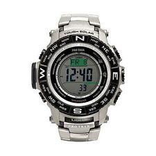 Casio Mens Protrek PRW3500T-7 Compass Titanium Band Solar Atomic Watch USED