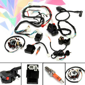Miraculous Full Electrical Wiring Harness Kit F Chinese Dirt Bike Atv Quad 150 Wiring Digital Resources Otenewoestevosnl