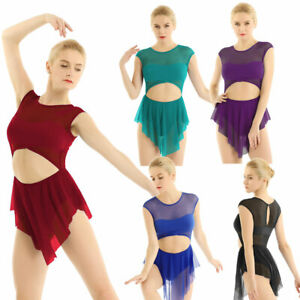 Women/'s Ballet Gymnastics Leotard Dance Dress Bodysuit Jumpsuit Skirt Dancewear