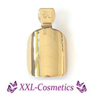 12 künstliche Fingernägel Airbrush Metallic Nails Gold +1 Feile MF-22