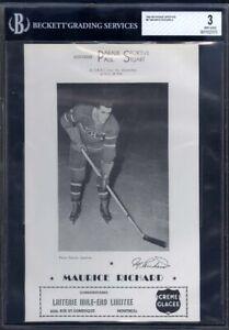 1943-1948-Parade-Sportive-Maurice-Richard-w-Ad-BVG-3-RARE-Rookie-Card