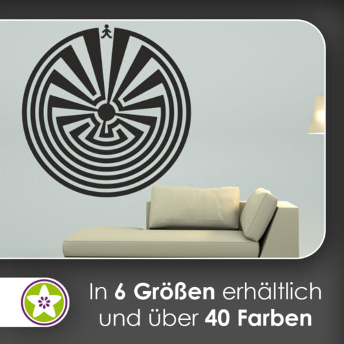 I/'itoi Aufkleber waf0822 Man in the Maze Wandtattoo KIWISTAR