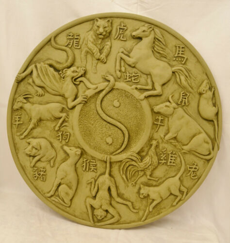 Chinese New Year Wall Plaque Stone Garden Ornament
