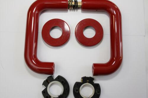 HEWI Cane Garniture modèle 111.23 avec rosette Couleur 33 rouge rubis 8 mm Carrée