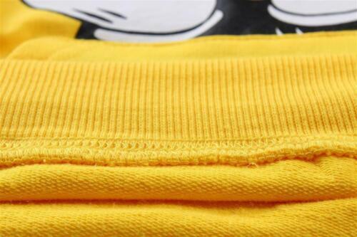Toddler Kids Boys//Girls Yellow Mickey Sweatshirts Long Sleeve Hoodies Tops Coat