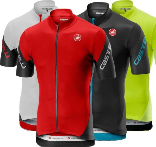 DARK GREY//SKY BLUE NEW Castelli ENTRATA 3 Short Sleeve Full Zip Cycling Jersey