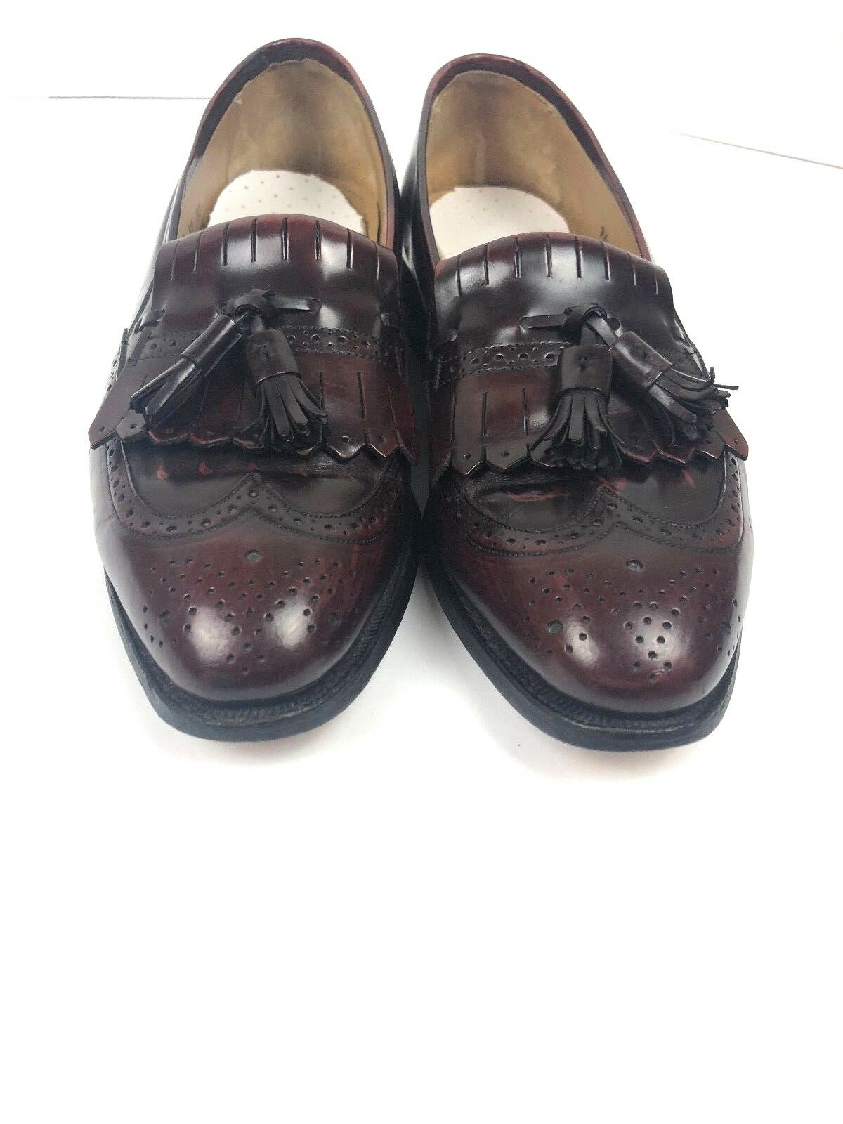 Men's Leather Slip On Loafers Johnston Murphy Size 9½ D B Tassle Leather Mens
