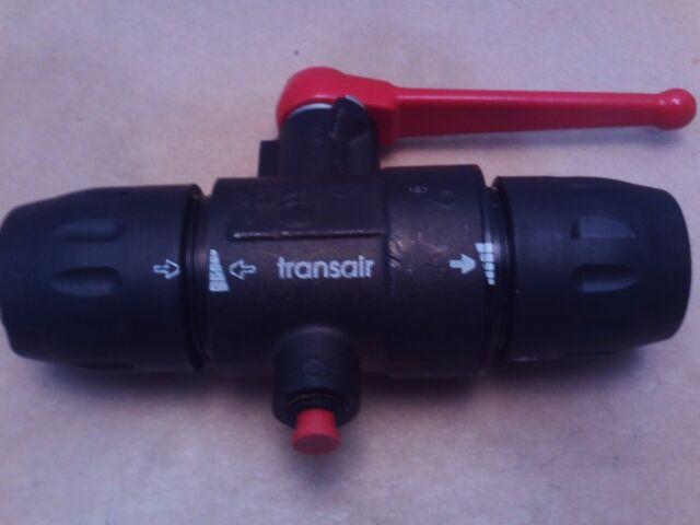 "Transair-Parker 6694 25 22GR Treated Brass//Polyamide Ball Valve Fitting 1//2/"""