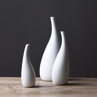 Luxury Ceramic Art Vases White Porcelain Modern Style Wedding Home Decoration