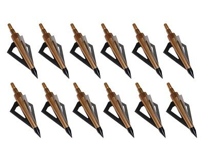 150 Grains Profile Broadheads Archery Hunting Shooting 2 Fixed Blade Arrow Steel
