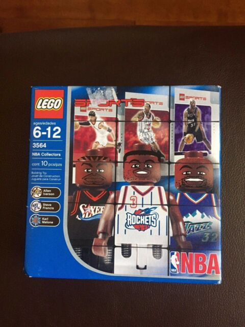 Karl Malone Lego 3564 NBA Collectors Set  Allen Iverson Steve Francis