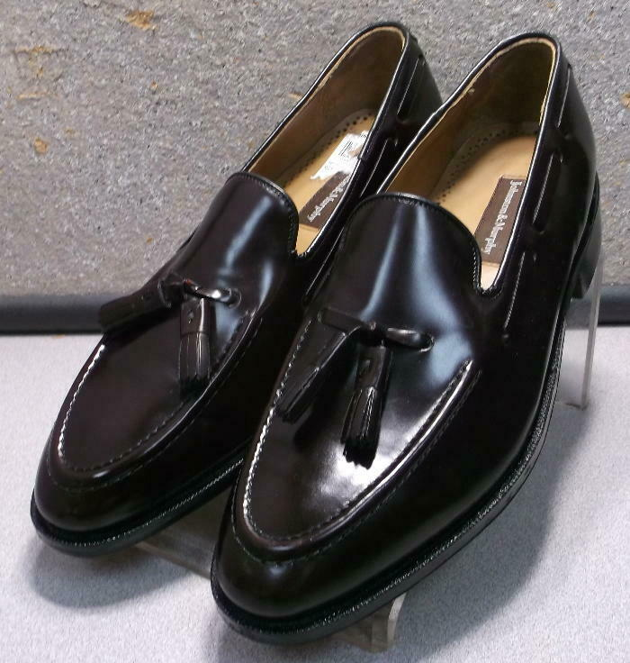 2493630 WT50 Mens Shoe Size 8½ D/B Burgundy Leather Johnston Murphy Walk Test
