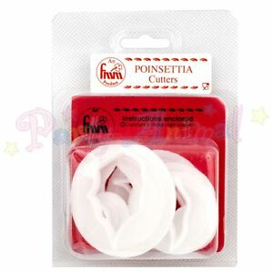 FMM-Sugarcraft-Poinsettia-Cutter-Set-of-7-Christmas-Flower-Cake