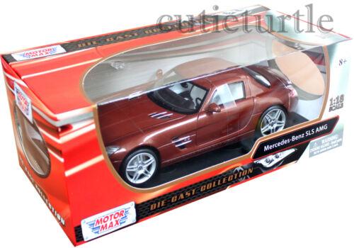 Motormax 79162 Mercedes Benz SLS AMG Gullwing 1:18 Diecast Brown