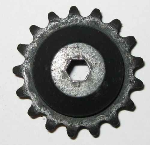 """Key Bore 1.5/"""" OD 17 Teeth #25 Chain Sprocket Gear .5/"""" ID for Round Shaft"""