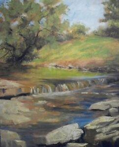 Beautiful-Brook-original-oil-painting-artist-Margaret-Aycock-Babbling-Stream