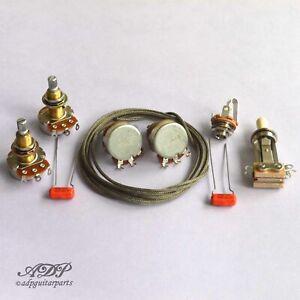 Wiring-Kit-for-Gibson-Les-Paul-Gaucher-Jeu-Composants-non-cables-CTRL-LP-Lefty