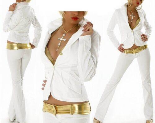 Divisori Sexy Look Bianco Pantaloni Miss Hip Prezioso 40 Oro 2 Rosa Ladies 42 Blazer HwqtTUw