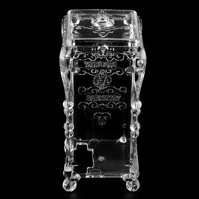 Makeup Cotton Pad Cosmetic Organizer Case Storage Box Holder Acrylic