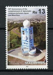 Mauritius-2019-MNH-Diplomatic-Relations-with-Japan-1v-Set-Architecture-Stamps