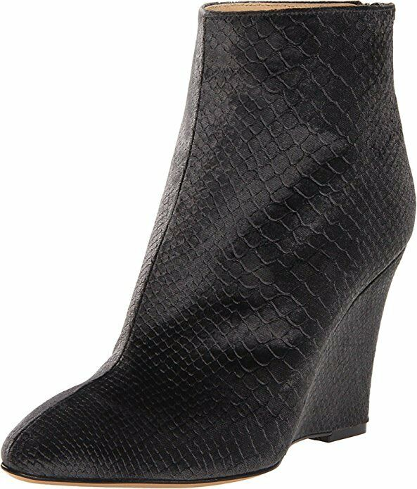 Marvin K  Mani Velvet Grey Wedge Boots 2116* Size 10 M