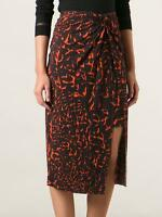 Helmut Lang Black/orange Twist Knot Jersey Skirt Women's Size Medium