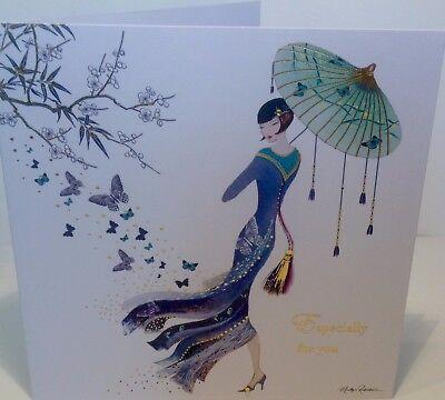 Maranda-TI mystique ART DECO GLAMOUR Anniversaire Carte De Vœux par Marilyn Robertson