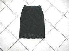 jupe laine noire BCBG Max Azria taille 38 6 US wool  black skirt