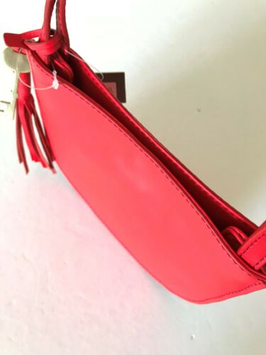 Fossil Chili Pepper Red Leather BROOKLYN Small Crossbody Messenger Bag ZB7197