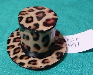 ec125083b46a Brown Leopard Print Top Hat w Black Satin Ribbon Band Ken Barbie ...