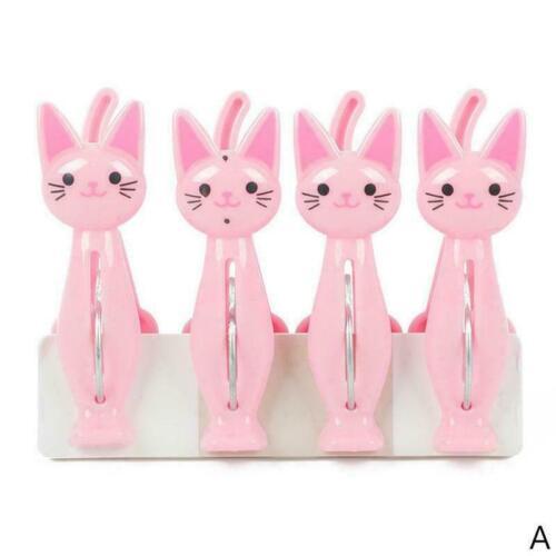 4 Stücke Cartoon Katze Kleidung Pins Wäschebügel Klammern Foto I1I2 Taschen V1C2