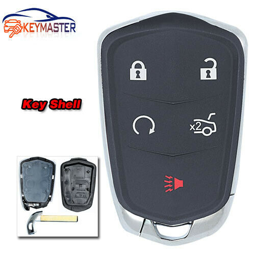 5 Button Smart Remote Key Shell Case For Cadillac ATS CT6