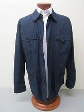 Polo Ralph Lauren Navy Cotton Denim Patch Pocket Field Shirt Jacket Size XL