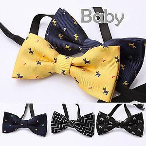 1x-Boys-Kids-Children-Party-Wedding-Dance-Silk-bow-tie-Necktie-bowtie